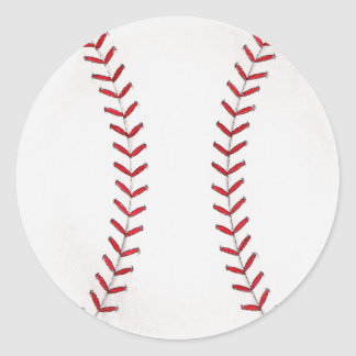 Baseball Round Sticker