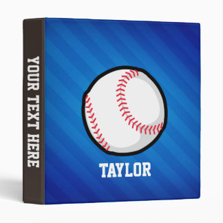 Baseball; Royal Blue Stripes Binder