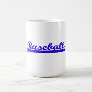 Baseball Royal Blue Typography Coffee Mug