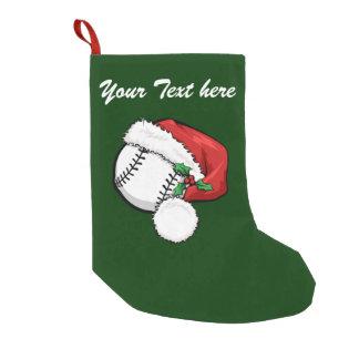 Baseball Santa Cap Small Christmas Stocking