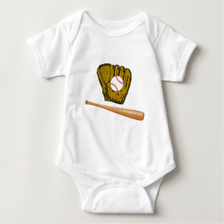 Baseball Season Baby Bodysuit