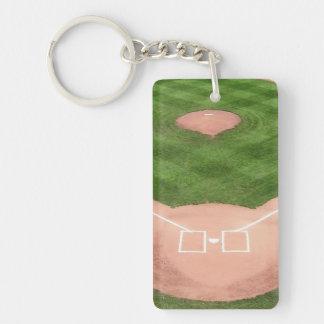 Baseball Single-Sided Rectangular Acrylic Keychain