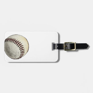 Baseball Sketch Luggage Tag