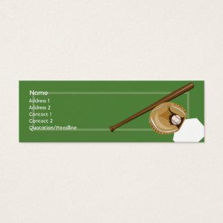 Baseball - Skinny Mini Business Card