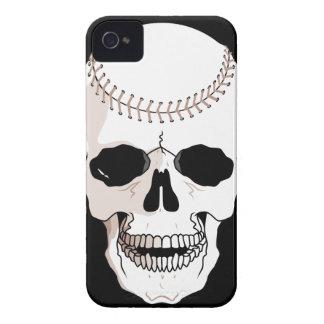 baseball skull head iPhone 4 cover