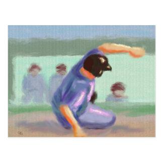 Baseball Slide Postcard
