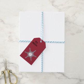 Baseball snowflakes gift tags