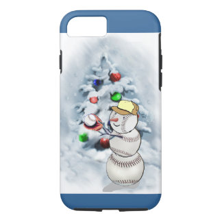 Baseball Snowman Christmas iPhone 7 Case