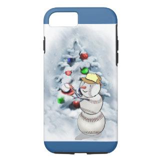 Baseball Snowman Christmas iPhone 8/7 Case