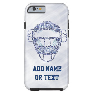 Baseball Softball Catcher's Mask Typography Tough iPhone 6 Case