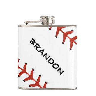 Baseball Softball Design Flask