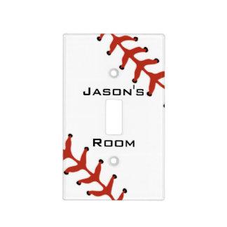 Baseball Softball Design Light Switch Cover