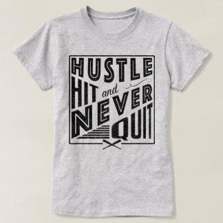 Baseball Softball Hustle Hit & Never Quit Shirt