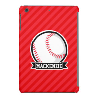 Baseball, Softball; Red Diagonal Stripes iPad Mini Retina Case
