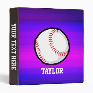 Baseball, Softball Vibrant Violet Blue and Magenta Binder
