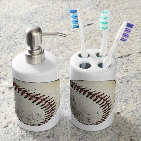 Baseball Sport Drawing Sketch Bath Sets