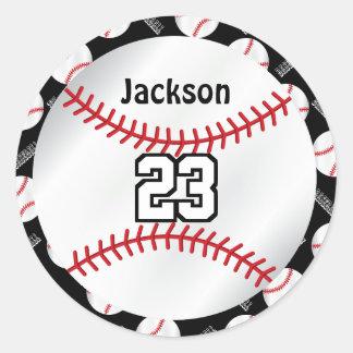 Baseball Sport | Personalize  - DYI Color Round Sticker