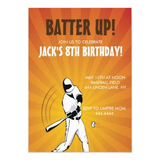 Baseball Sports Birthday Party Invitation