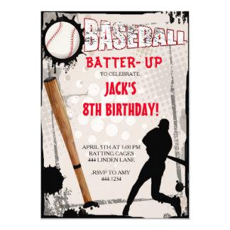 """Baseball Sports Birthday Party Invitations 5"""" X 7"""" Invitation Card"""