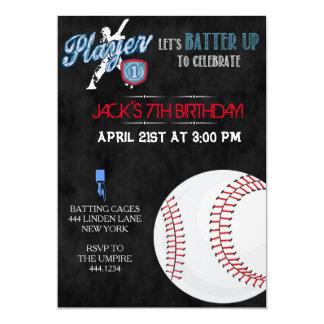 Baseball Sports Birthday Party Invitations