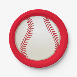 Baseball sports birthday party plates 7 inch paper plate