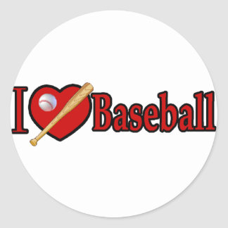Baseball Sports Lover Gifts Classic Round Sticker