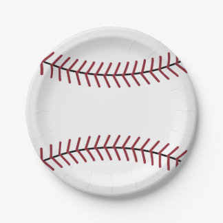 Baseball Sports Party Picnic Birthday Paper Plates 7 Inch Paper Plate