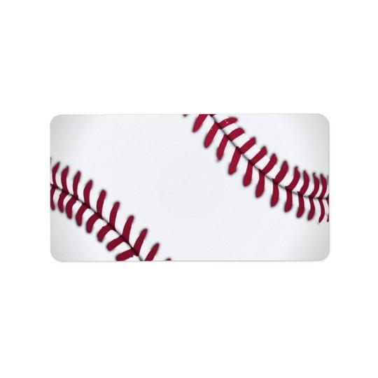 Baseball Sports Team Game Coach Ball Field Label