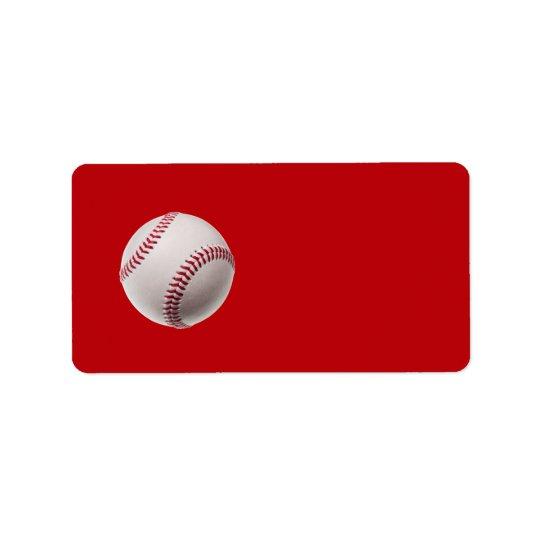 Baseball - Sports Template Baseballs on Red