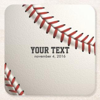 Baseball Square Paper Coaster