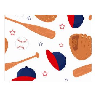 Baseball Star Pattern Postcard