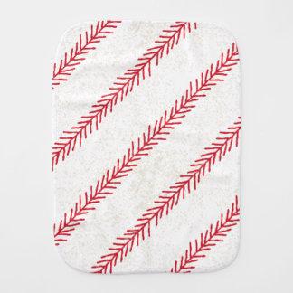 Baseball Stitch Burp Cloth