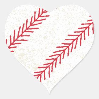 Baseball Stitch Heart Sticker