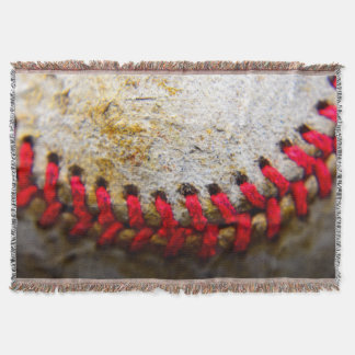 Baseball stitch throw blanket