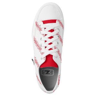 Baseball Stitch Zipz Low Top Shoes