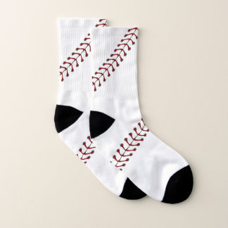 Baseball Stitching Design Socks 1