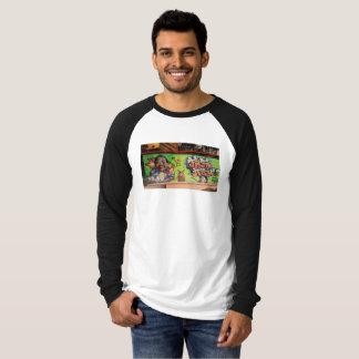 Baseball style teeshirt with Hong Kong photo T-Shirt