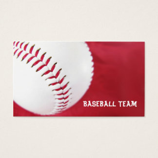 Baseball Team Business Cards