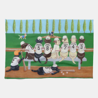 Baseball Team Labradors Kitchen Towel