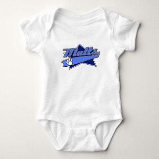 Baseball Team Logo - Mutts Baby Bodysuit