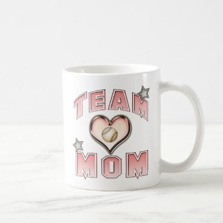 Baseball Team Mom Classic White Coffee Mug
