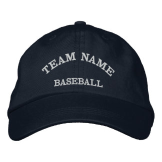 Baseball Team Name Navy  Hat Embroidered Baseball Cap