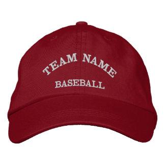 Baseball Team Name Red  Hat Embroidered Baseball Caps