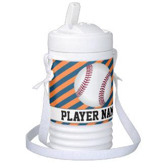 Baseball Tee-Ball Blue & Orange Team & Player Name Drinks Cooler