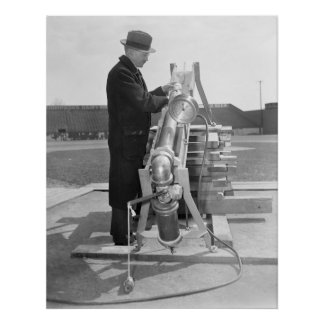 Baseball Testing, 1938 Poster