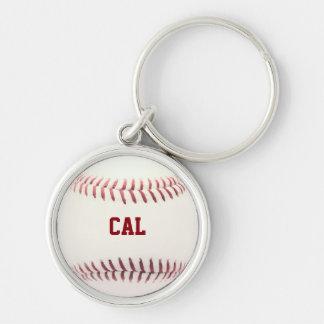 Baseball Texture Personalized Keychain
