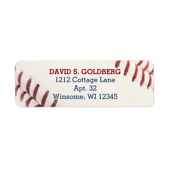 Baseball Texture Personalized Label Return Address Label