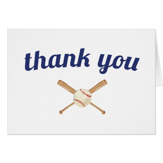 Baseball Thank You Card