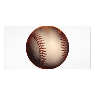 Baseball That Appears On Fire Photo Card Template