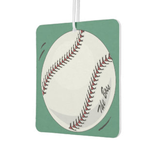 Baseball  'The Boss' ~with editable background Air Freshener